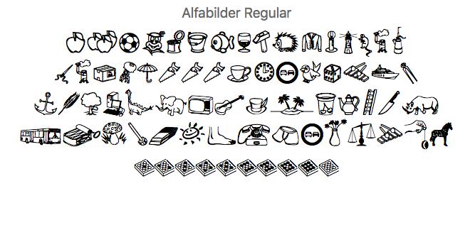 alfabilder-schriftart